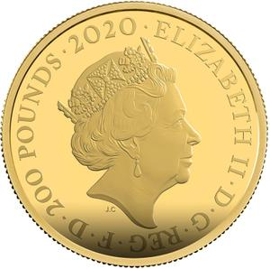 United Kingdom / Gold Two Ounces 2020 James Bond, Pay Attention - obverse photo