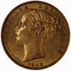 Sovereign 1852: Photo Coin - Sovereign, Queen Victoria, Great Britain, 1852