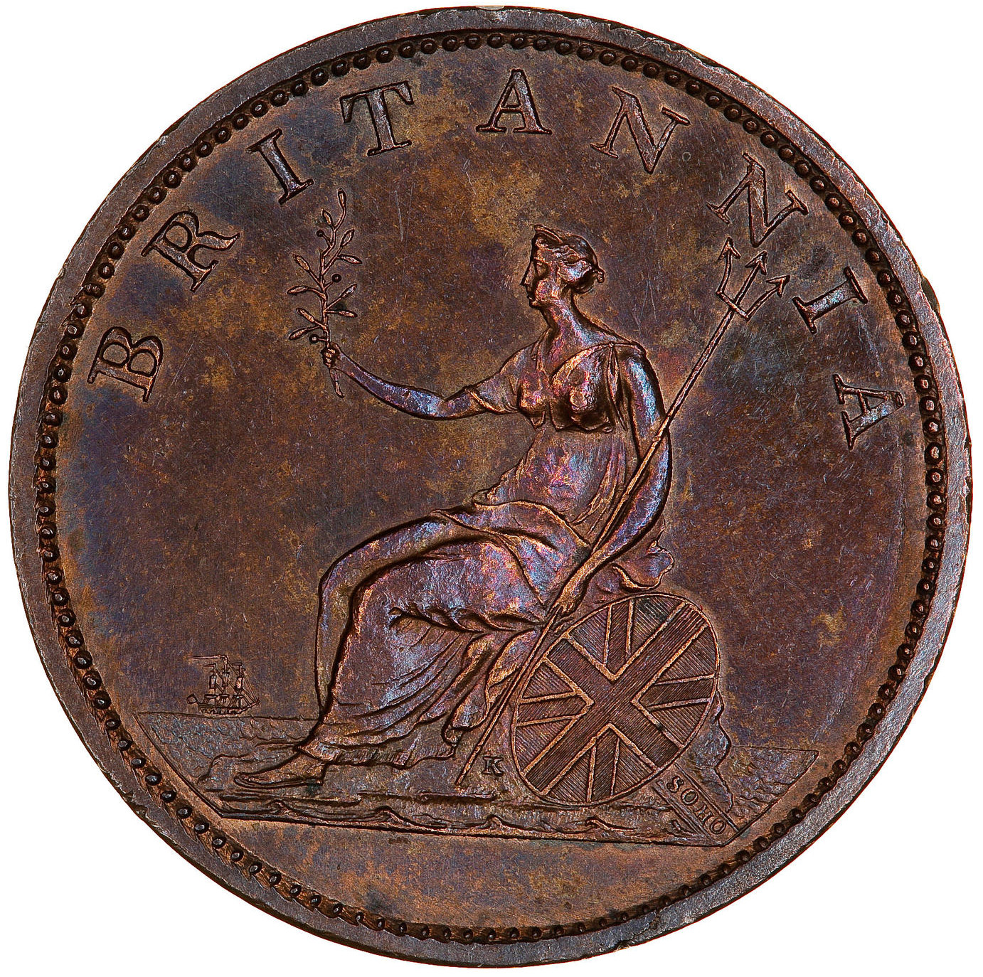 Halfpenny (Pre-decimal): Photo Coin - Halfpenny, George III, Great Britain, 1807