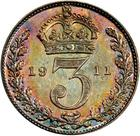 Threepence 1911 (Maundy): Photo Great Britain 1911 3 pence
