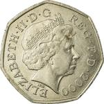 United Kingdom / Fifty Pence 2000 - obverse photo