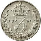 United Kingdom / Threepence 1890 (Circulating) - reverse photo