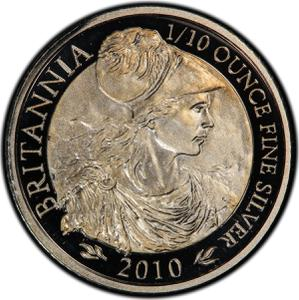 United Kingdom / Silver Tenth-Ounce 2010 Britannia - reverse photo