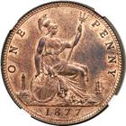 Penny 1877: Photo Great Britain 1877 penny
