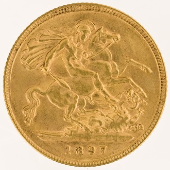 Half Sovereign 1897: Photo Gold 1/2 sovereign, London (England)