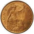 Penny 1915: Photo George V, Bronze Penny, 1915