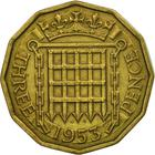 United Kingdom / Threepence 1953 (Brass) - reverse photo