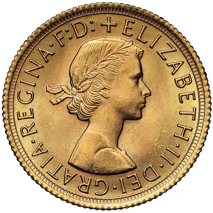 Sovereign 1966: Photo Coin, Great Britain, Elizabeth II, Sovereign, 1966