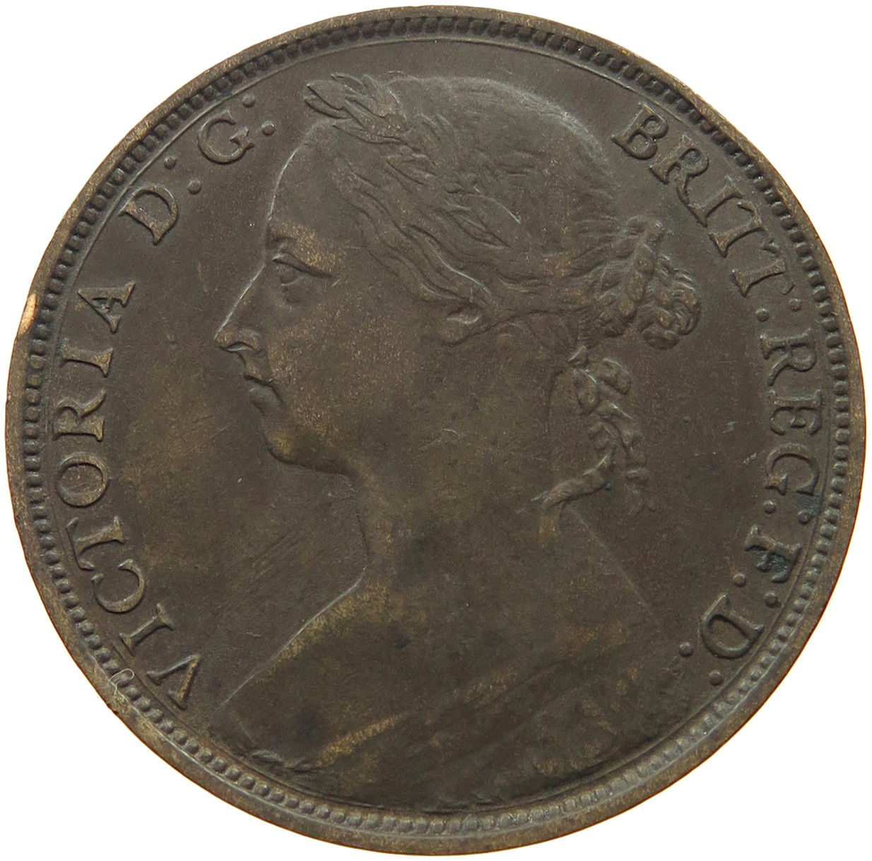 Penny 1886: Photo Great Britain Penny 1886 Victoria