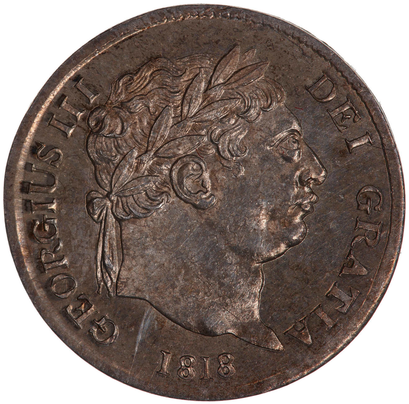Maundy Fourpence (Pre-decimal): Photo Coin - Groat, George III, Great Britain, 1818
