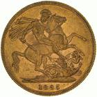 United Kingdom / Sovereign 1885 St George - reverse photo