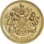 United Kingdom / One Pound 2008 Royal Arms - reverse photo