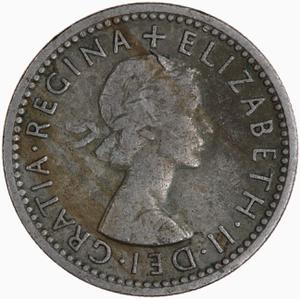 United Kingdom / Sixpence 1955 - obverse photo