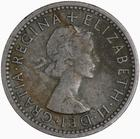 Sixpence 1955: Photo Coin - Sixpence, Elizabeth II, Great Britain, 1955