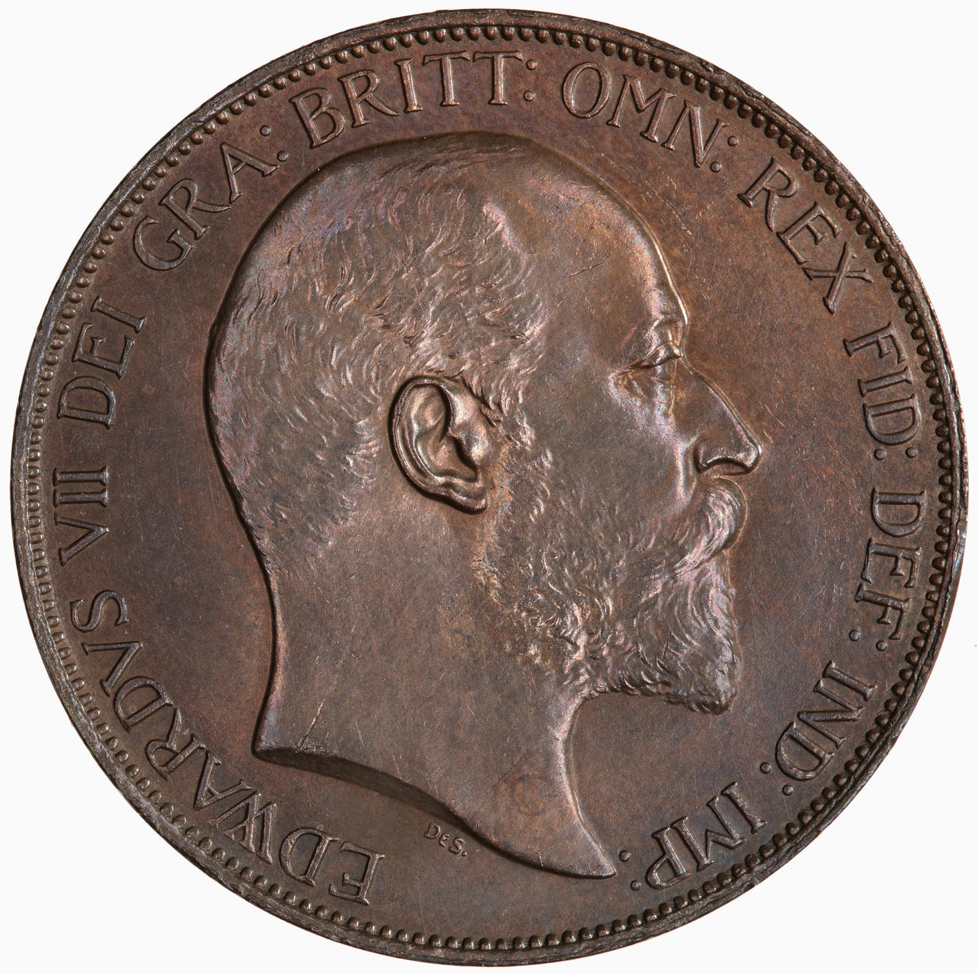 Penny (Pre-decimal): Photo Coin - Penny, Edward VII, Great Britain, 1902
