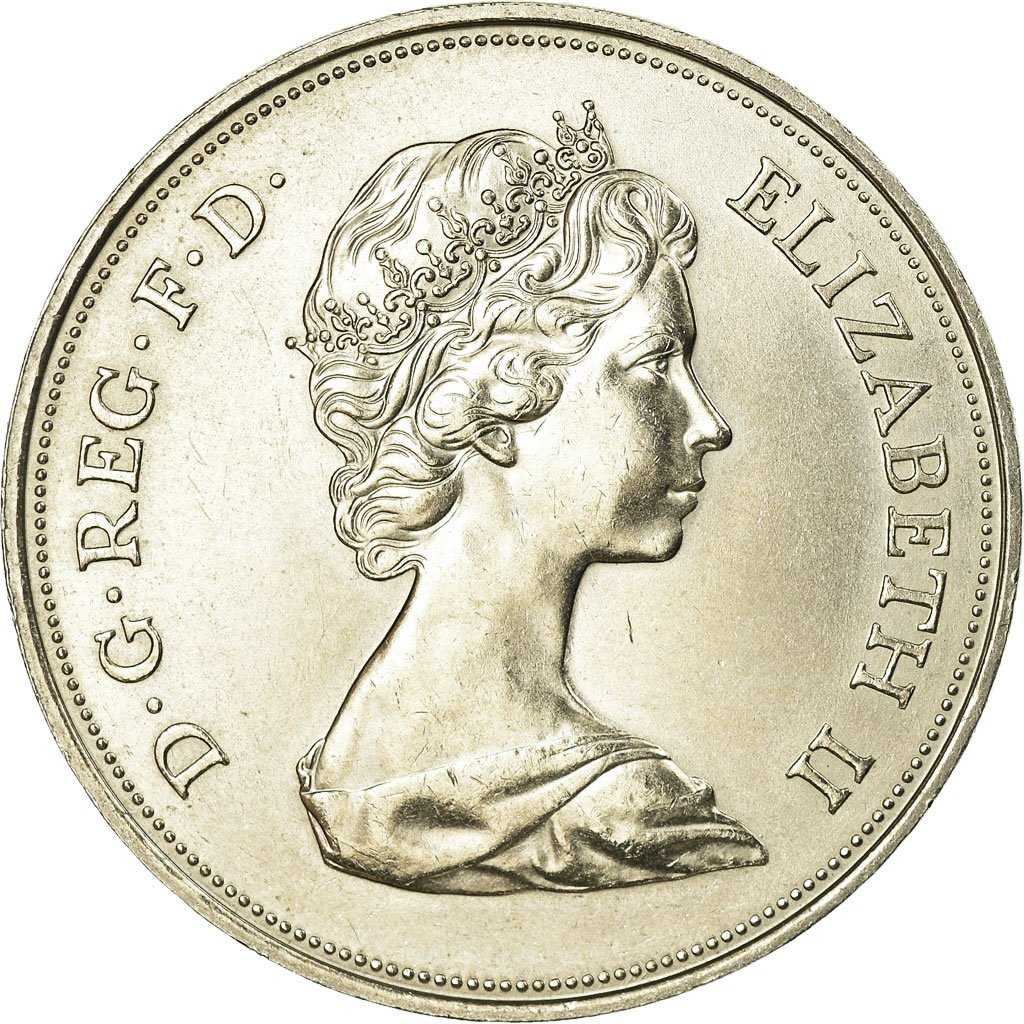1980 25 New Pence Commemorative Old Great Britain Coin Circulated