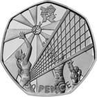 United Kingdom / Fifty Pence 2011 - London 2012 - Volleyball - reverse photo
