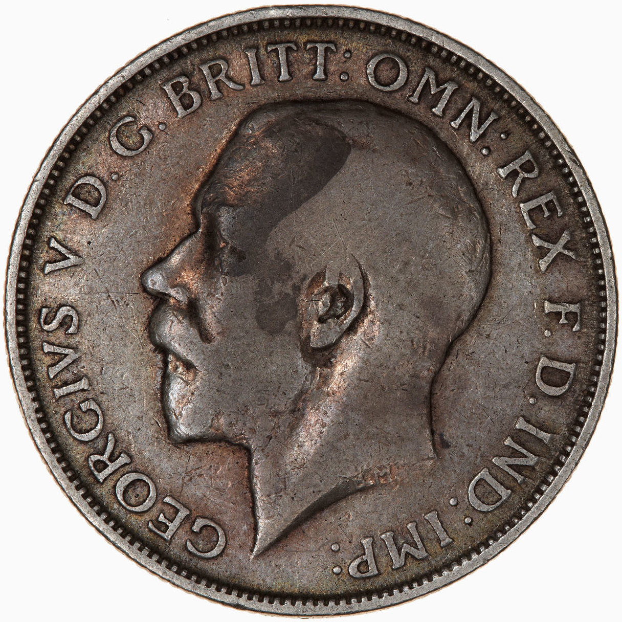 Florin 1915: Photo Coin - Florin (2 Shillings), George V, Great Britain, 1915