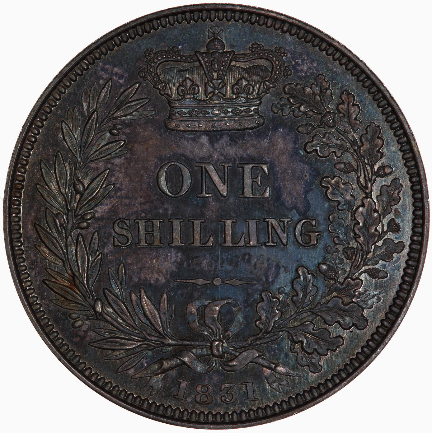 Shilling: Photo Proof Coin - Shilling, William IV, Great Britain, 1831