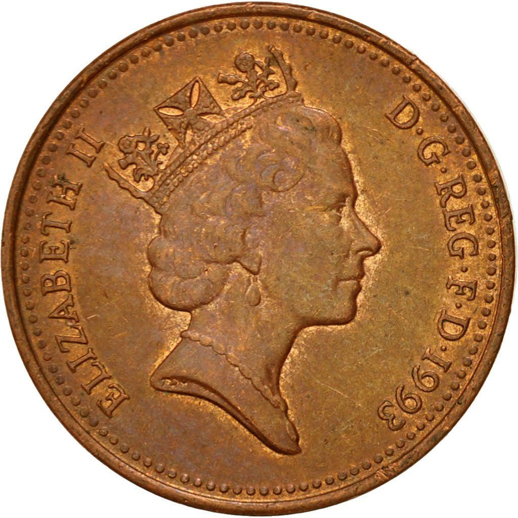 One Penny 1993: Photo Coin, Great Britain, Elizabeth II, Penny, 1993