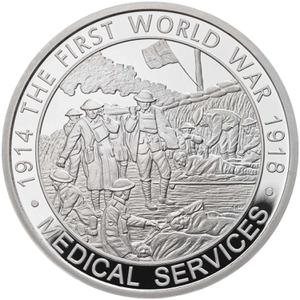 United Kingdom / Five Pounds 2017 Medical Services - reverse photo