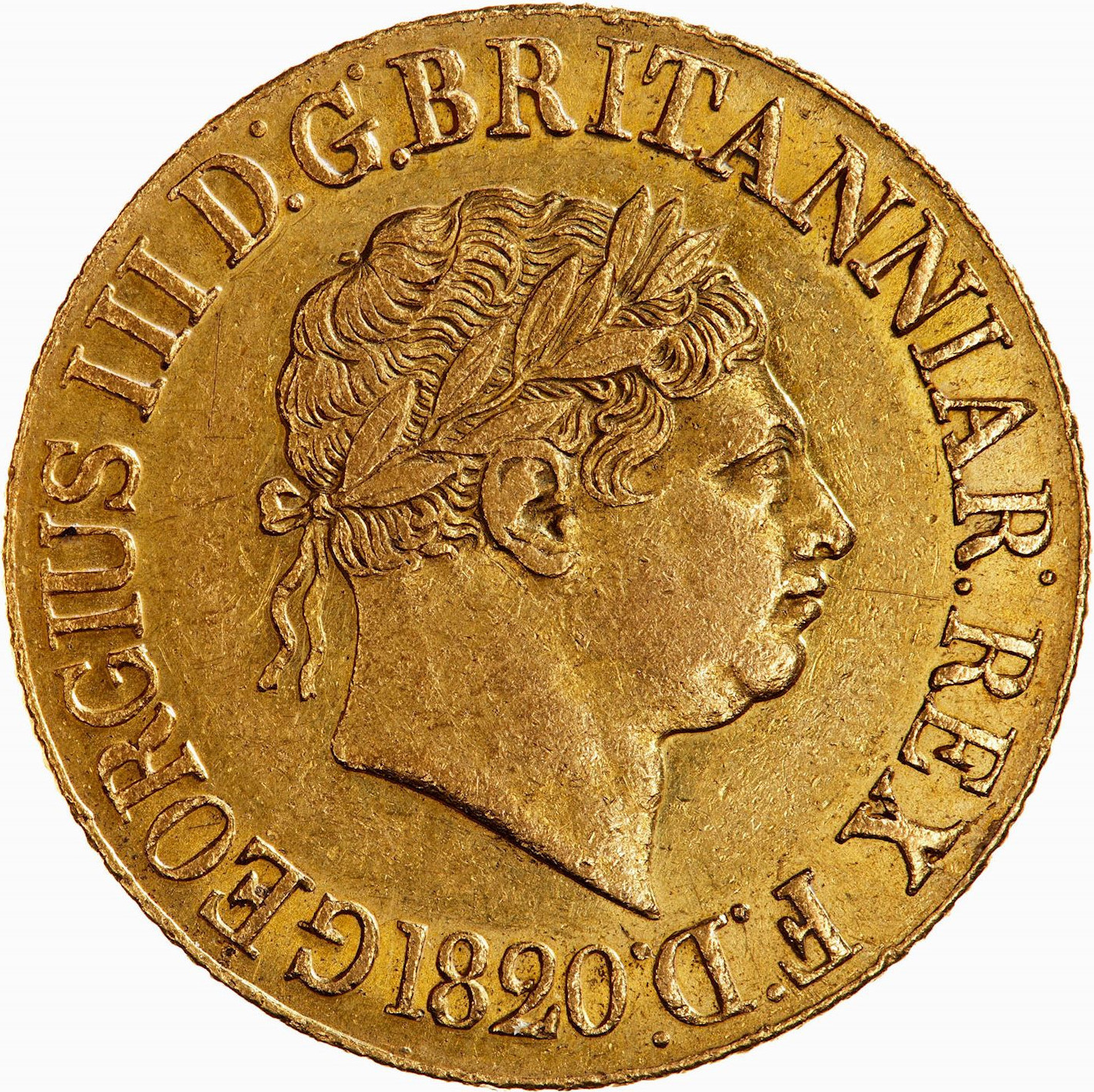 Sovereign (Pre-Decimal): Photo Coin - Sovereign, George III, Great Britain, 1820