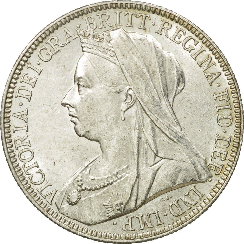 Florin 1897: Photo Coin, Great Britain, Victoria, Florin, Two Shillings, 1897