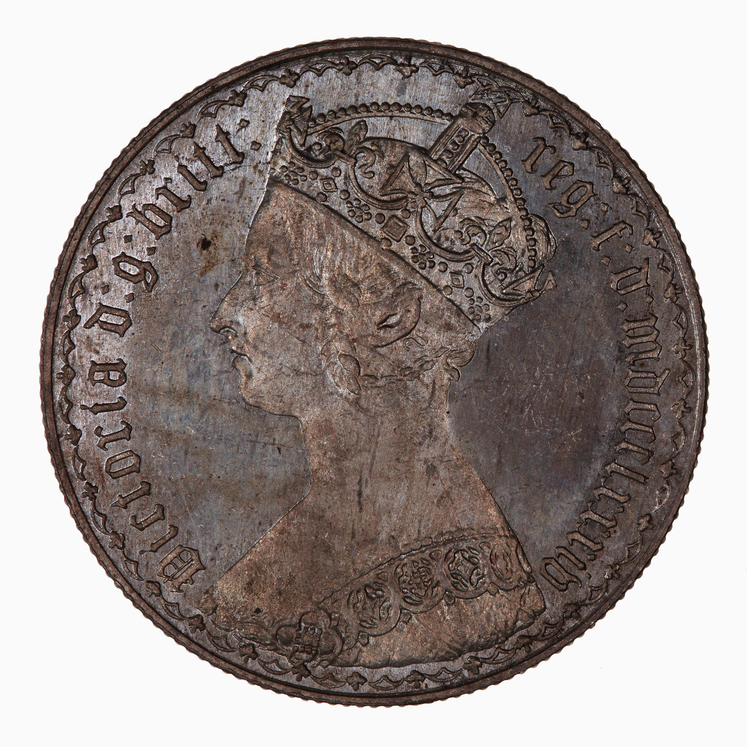 Florin 1884: Photo Coin - Florin, Queen Victoria, Great Britain, 1884