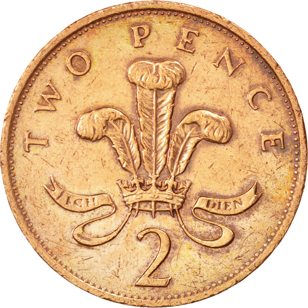 Two Pence 1989: Photo Great Britain, Elizabeth II, 2 Pence, 1989