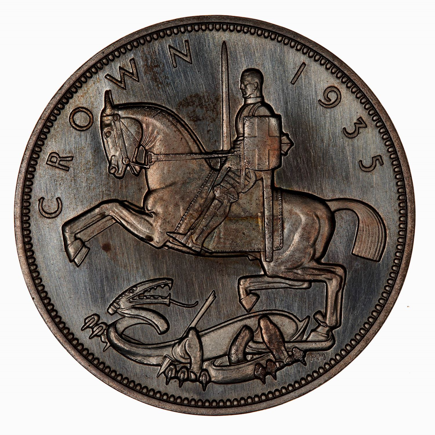 Crown (St George, Modern): Photo Coin - Crown, Silver Jubilee George V, Great Britain, 1935