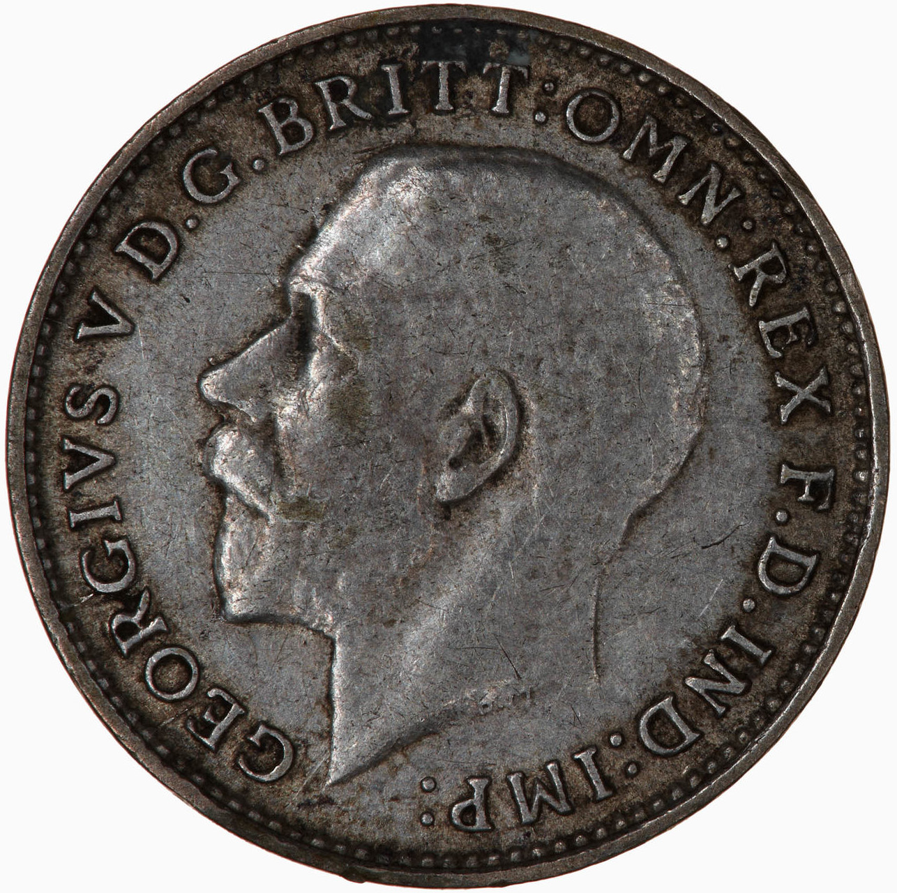 Threepence 1925 (Circulating): Photo Coin - Threepence, George V, Great Britain, 1925