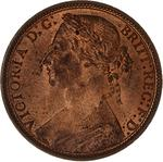 Penny 1876: Photo Coin - Penny, Queen Victoria, Great Britain, 1876