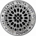 United Kingdom / Five Pounds 2007 Diamond Wedding - reverse photo