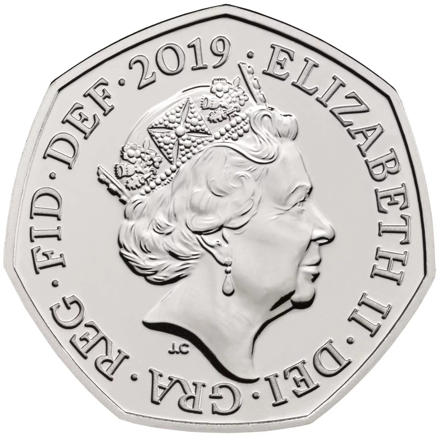 Fifty Pence 2019 Victoria Cross - Heroic Acts (NCLT): Photo Victoria Cross Heroic Acts 50p Brilliant Uncirculated Coin