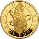 United Kingdom / Gold Ounce 2017 Lion of England - reverse photo