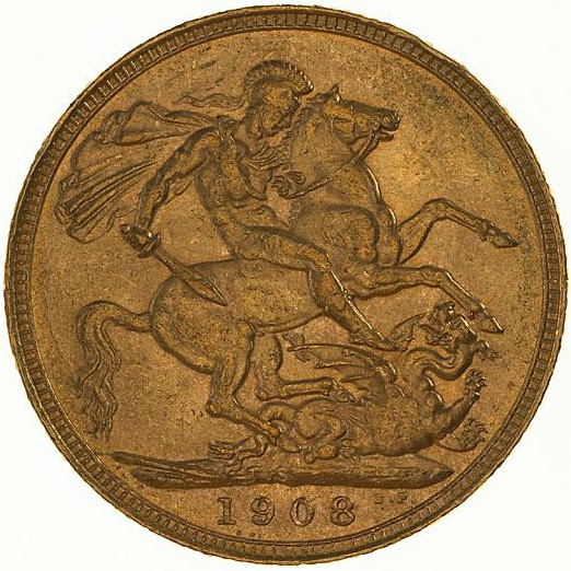 Sovereign 1908: Photo Coin - Sovereign, New South Wales, Australia, 1908