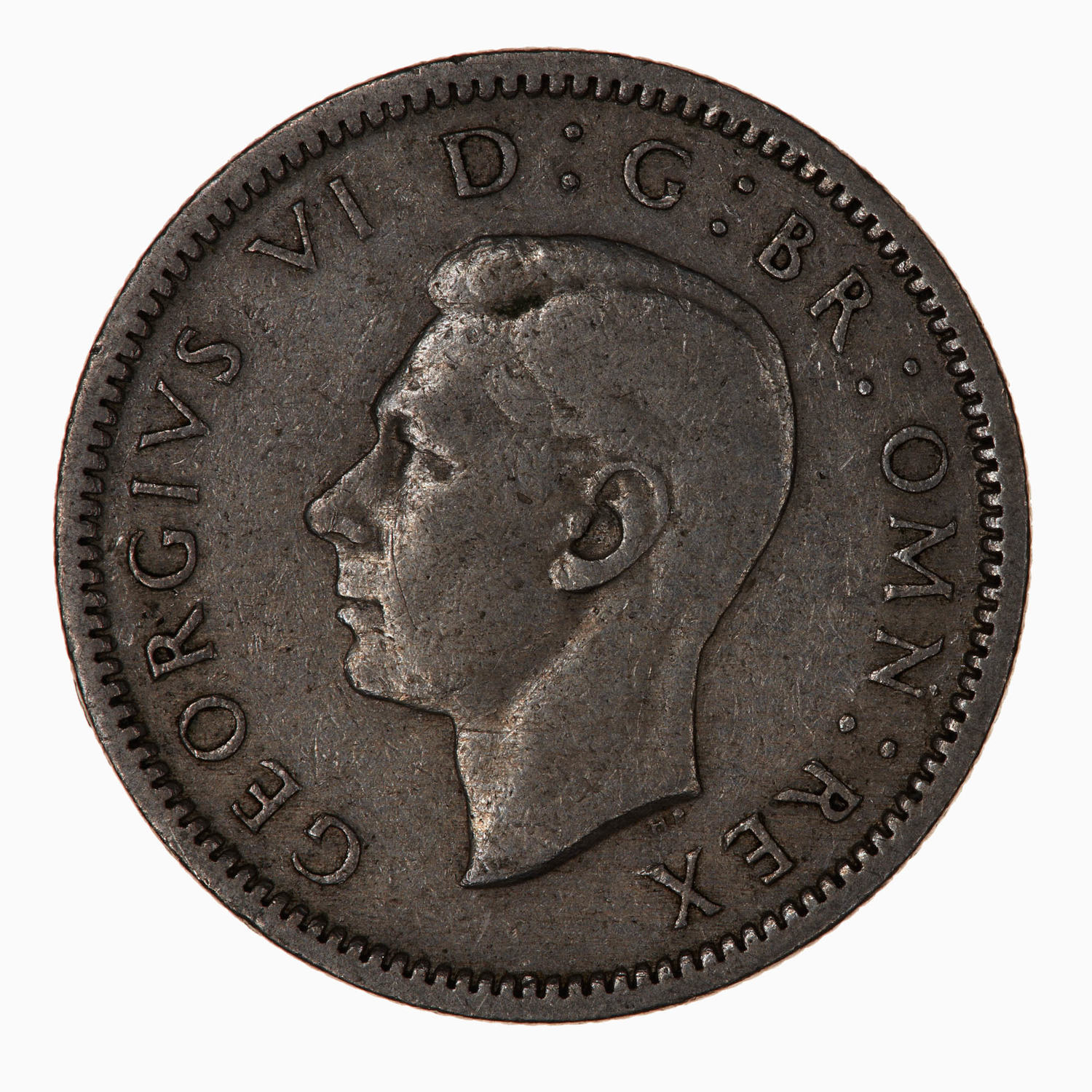 Sixpence 1948: Photo Coin - Sixpence, George VI, Great Britain, 1948