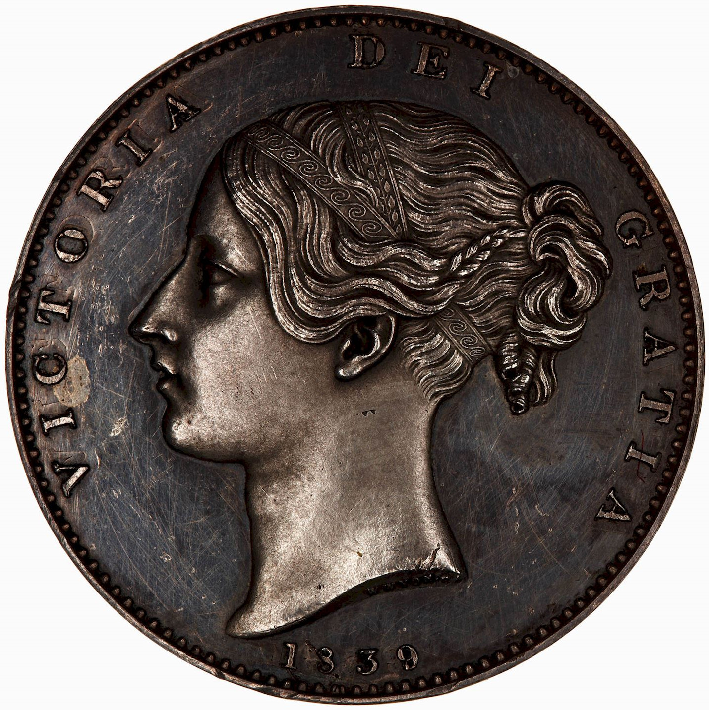 Crown: Photo Proof Coin - Crown, Queen Victoria, Great Britain, 1839