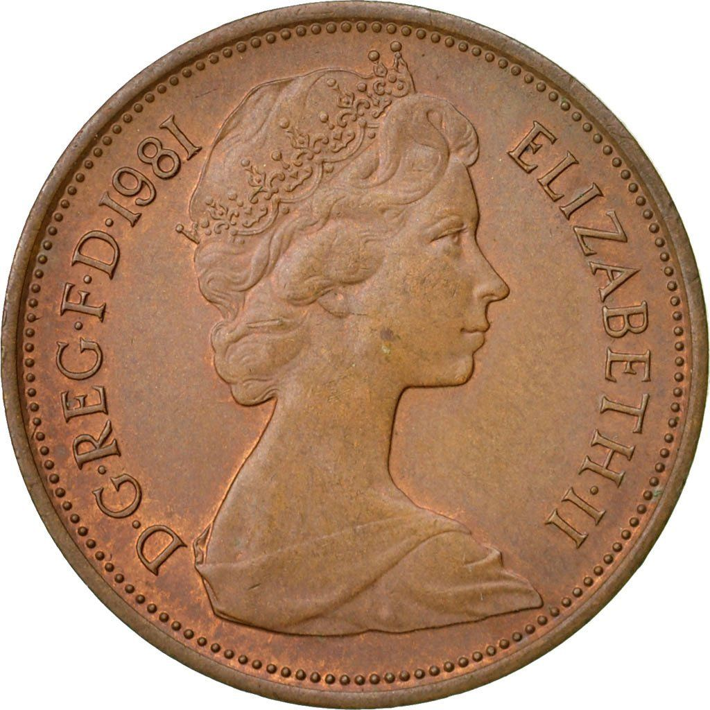Two Pence 1981: Photo Coin, Great Britain, Elizabeth II, 2 Pence, 1981