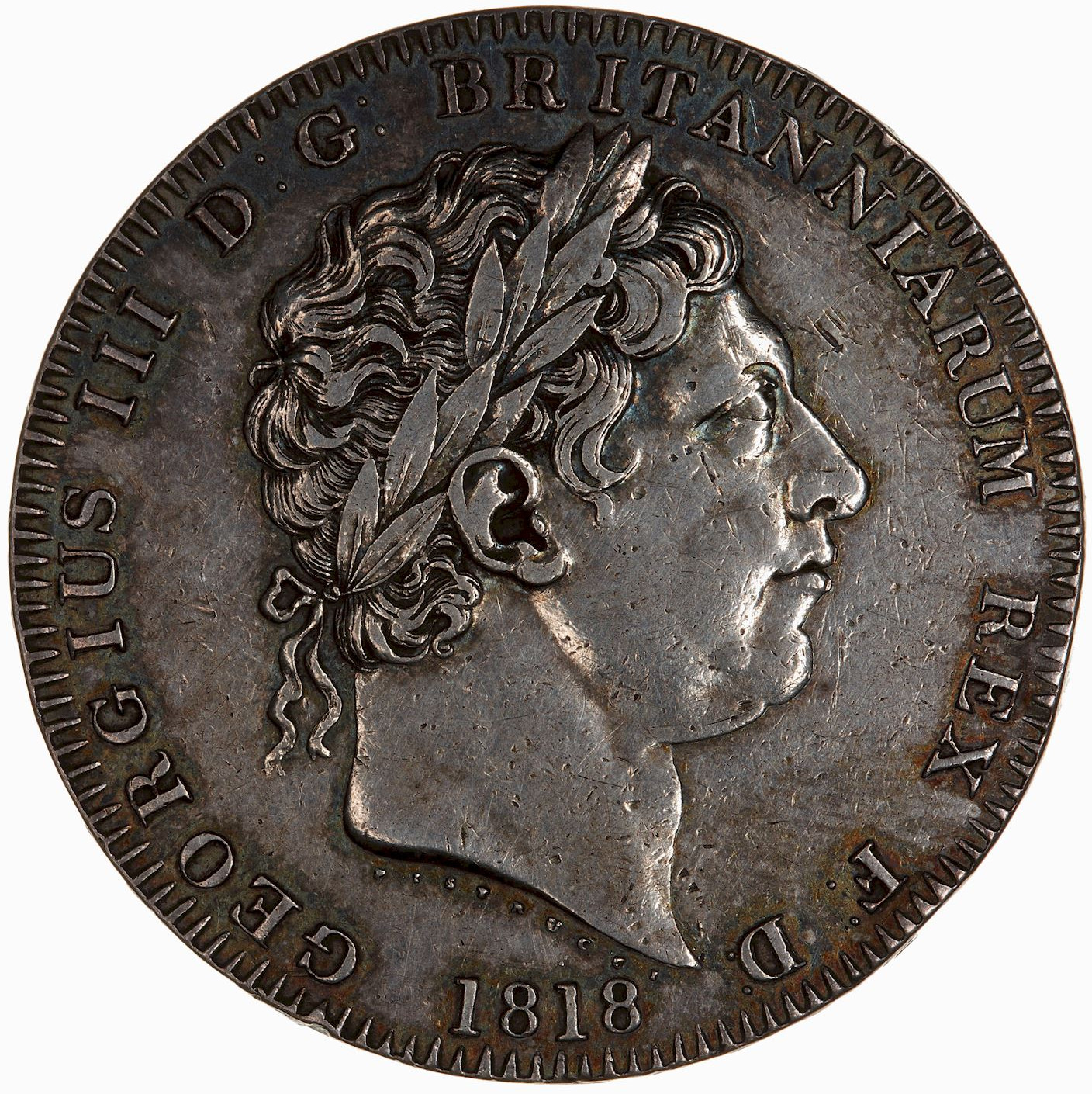 Crown: Photo Coin - Crown, George III, Great Britain, 1818