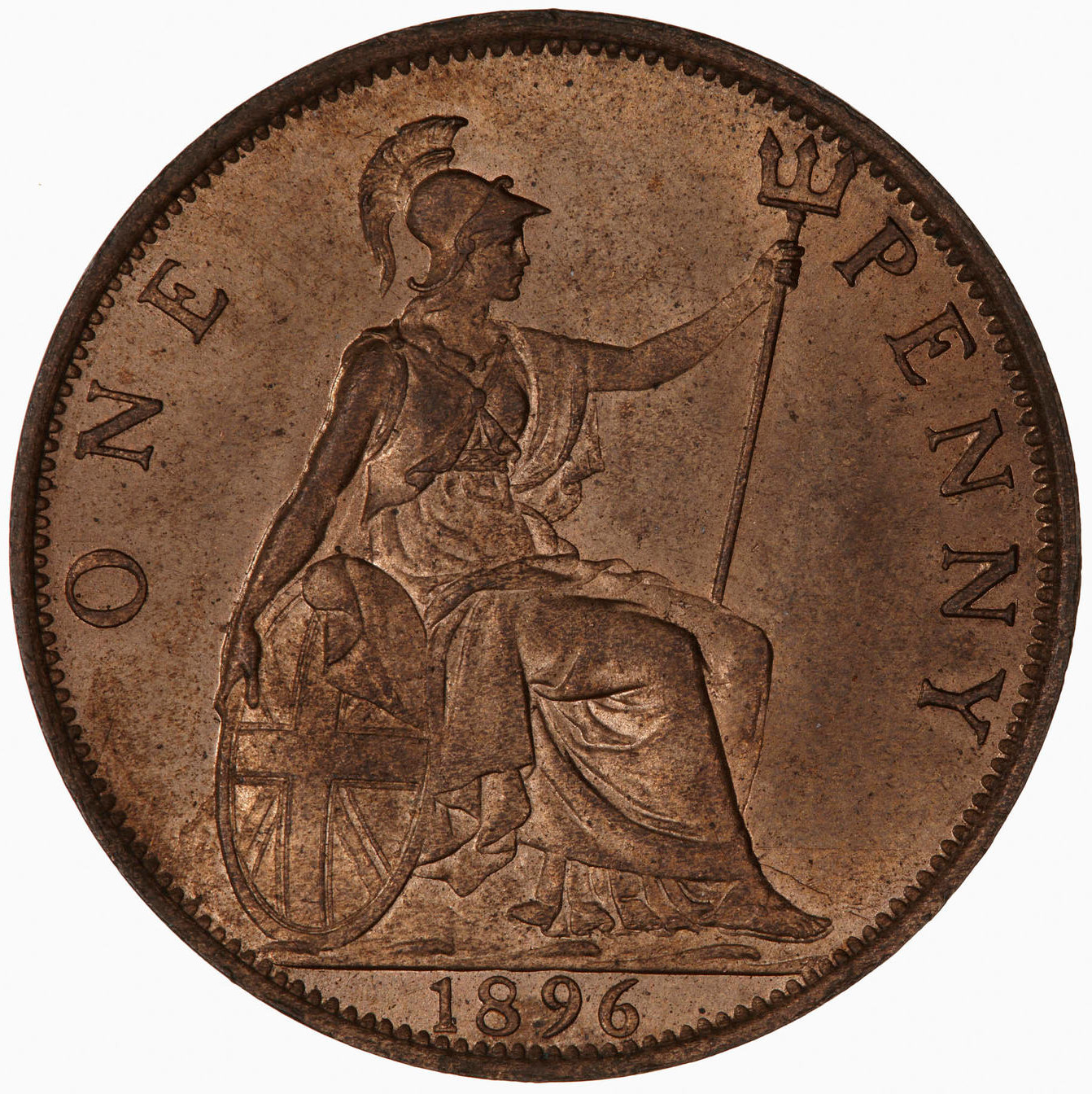 Penny 1896: Photo Coin - Penny, Queen Victoria, Great Britain, 1896