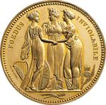 United Kingdom / Crown Pattern 1817 The Three Graces / Gold Proof - reverse photo