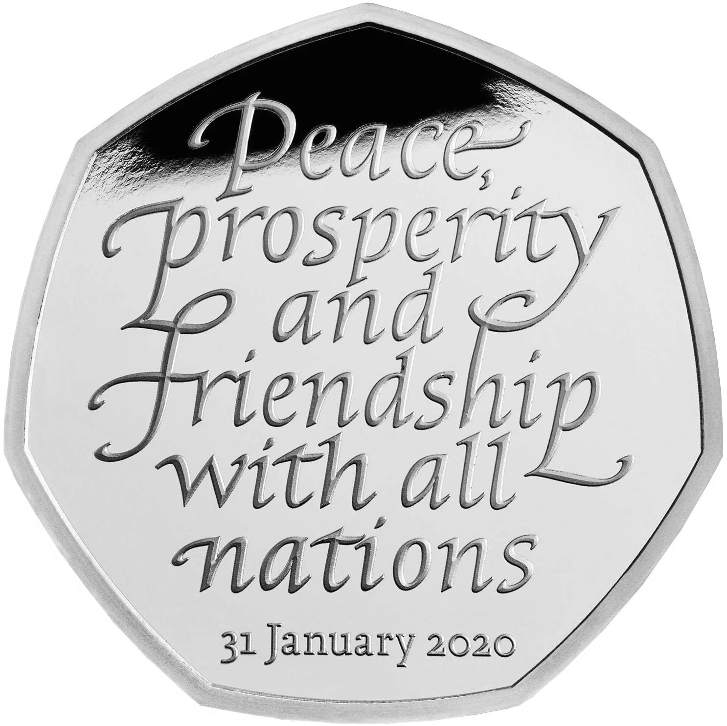 Fifty Pence 2020 Brexit: Photo Withdrawal from the European Union 2020 UK 50p Silver Proof Coin
