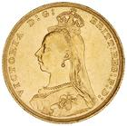 United Kingdom / Sovereign 1891 - obverse photo