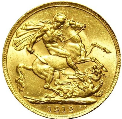 Sovereign 1912: Photo George V Gold Sovereign 1912