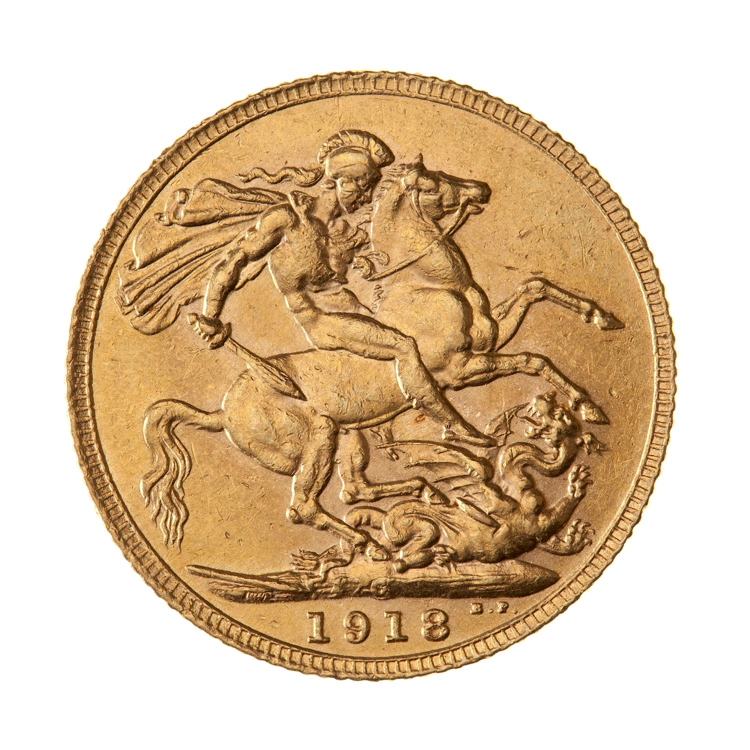 Sovereign (St George): Photo Coin - Sovereign, Canada, 1918