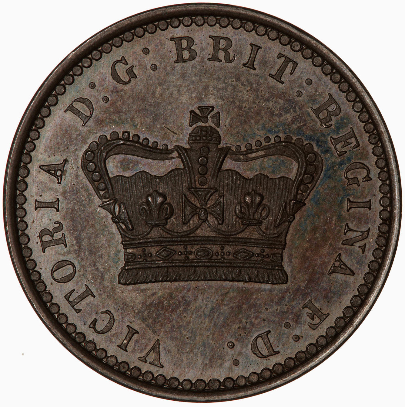 Twopence 1859 (Pattern): Photo Pattern Coin - Twopence, Queen Victoria, Great Britain, 1859