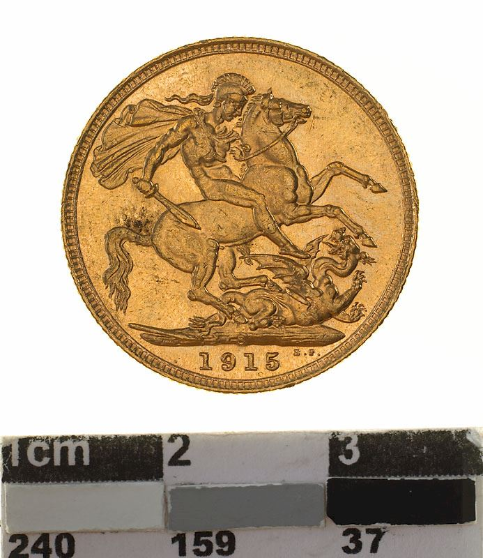 Sovereign 1915: Photo Coin - Sovereign, New South Wales, Australia, 1915