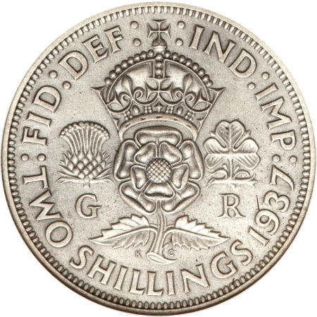 Two Shillings (Florin) 1937: Photo Great Britain 1937 florin