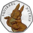United Kingdom / Fifty Pence 2016 Squirrel Nutkin / Silver Proof FDC - reverse photo